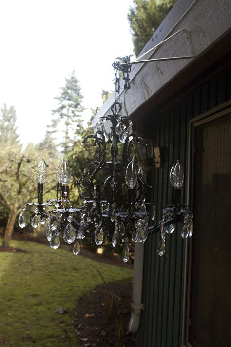 chandelier outdoor diy outdoor chandelier host to guest