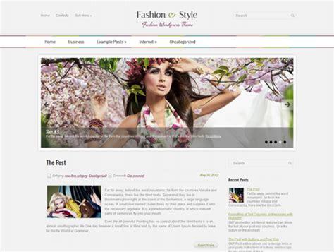wordpress themes free horizontal fashionstyle free wordpress theme