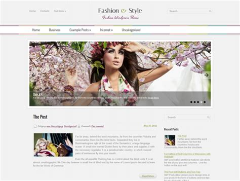 wordpress themes cartoon style fashion style responsive theme responsive wordpress theme