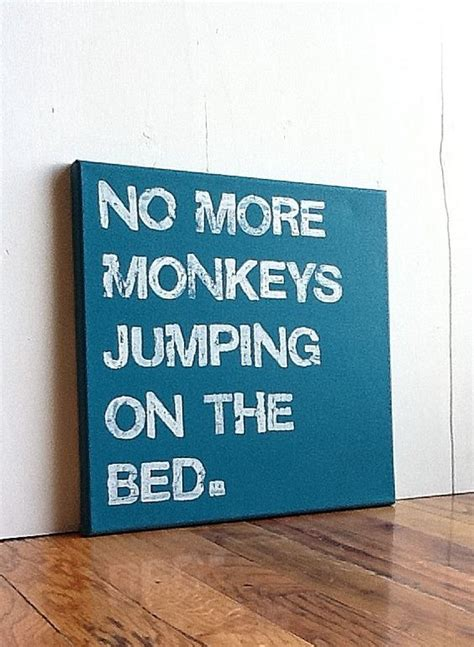 no more monkeys jumping on the bed song typography turquoise and songs on pinterest