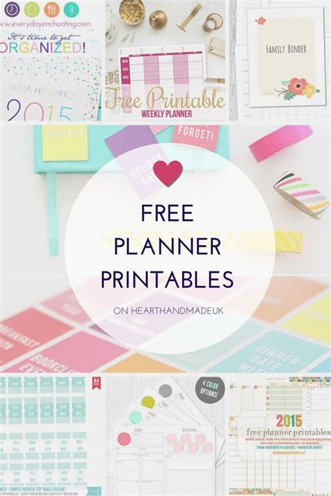 handmade home printable planner free planner printables heart handmade uk free planner