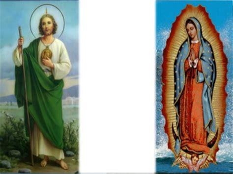 imagenes de virgen de guadalupe y san judas tadeo montaje fotografico san judas tadeo y la virgen de