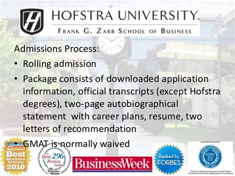 Hofstra Mba Healthcare Management by Hofstra Zarb Emba Progra 2015 Version