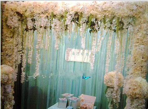 Wedding Arch Another Name by 2017 New Artificial Spider Plants Silk Flower Vine Wedding