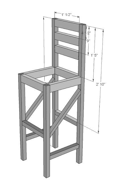 building bar stools plans to build a bar stool woodworking projects plans