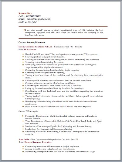 Resume Template Hr Manager Hr Manager Resume Sle Free Template Downloads