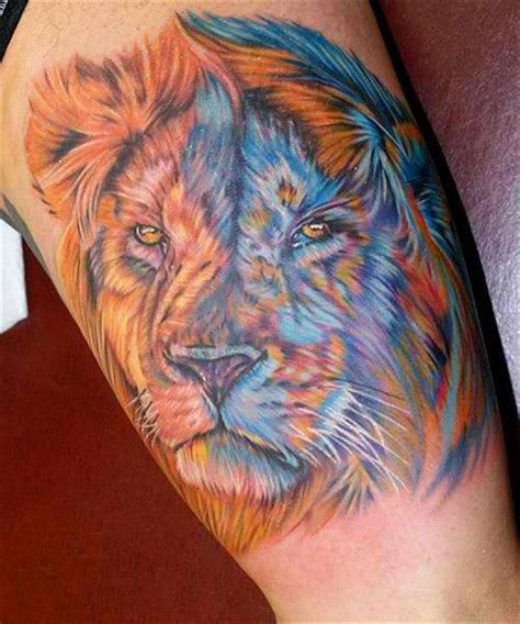 colorful lion tattoo 50 tattoos for