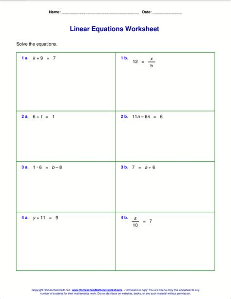 Step One Worksheet by Solving Linear Equations With X On Both Sides Worksheet
