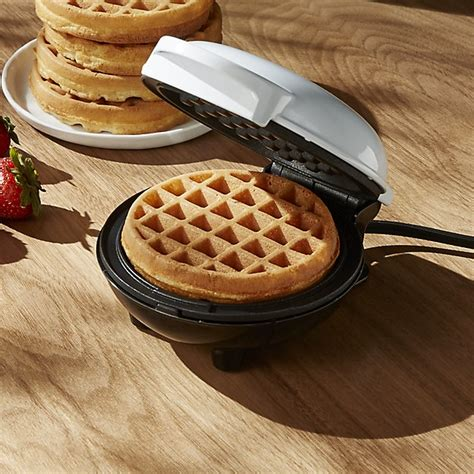 Waffle Maker Mini By dash white mini waffle maker crate and barrel