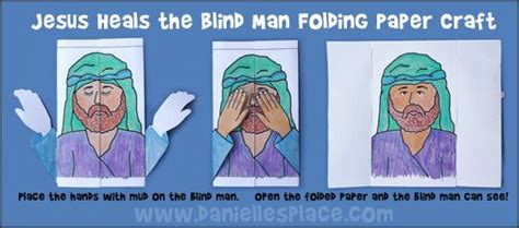 Jesus Heals The Blind Preschool Craft jesus heals the blind k i d s s a b b a t h s c h o o l the o jays