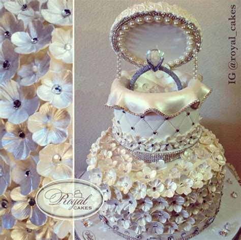 Engagement Wedding Cakes by Harsanik Engagement Ring Box Cake By Royal Cakes