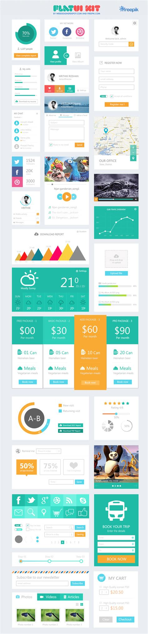 flat design ui elements freebie 45 flat ui design elements freebies graphic
