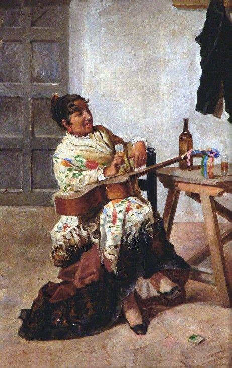 jose garcia ramos paintings jos 233 garc 237 a ramos mujer con guitarra jos 233 garc 237 a ramos