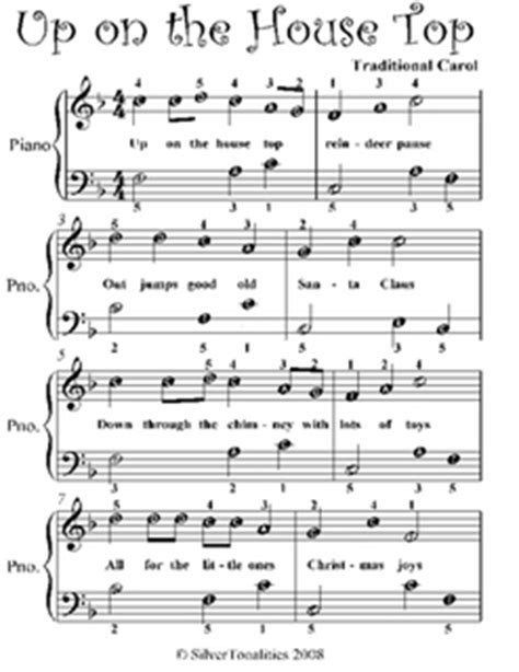 best german house music up on the house top easy piano sheet music pdf by