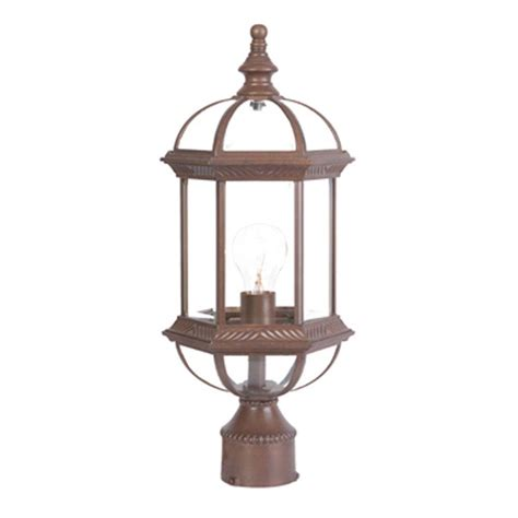 Post Light Fixture Acclaim Lighting Dover 1 Light Burled Walnut Outdoor Post Mount Light Fixture 5277bw The Home