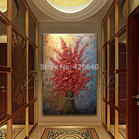 home decor wall painting flower canvas painting cuadros hand painted palette knife colorful flowers oil painting