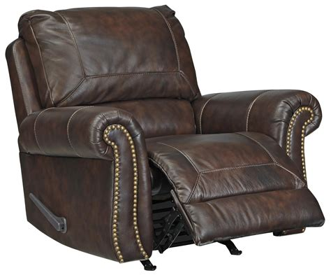Traditional Leather Recliner by Traditional Leather Match Rocker Recliner With Rolled Arms