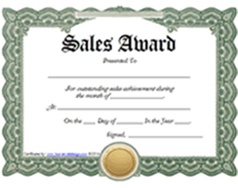 free sale certificate template printable sales awards certificates templates