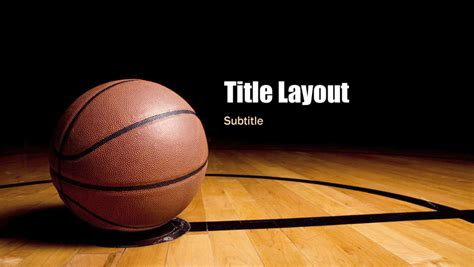 powerpoint themes basketball basketball presentation widescreen office templates