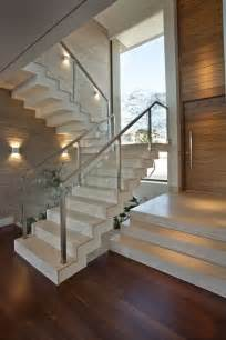 Modern Glass Stairs by How To Make An Entrance Destination Living