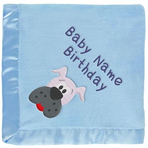 grey puppy names blue baby blanket with gray embroidered boy s name