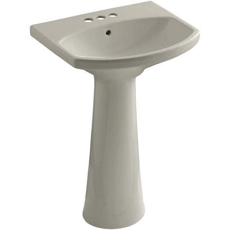 Kohler Pedastal Sink by Kohler Cimarron 4 In Centerset Pedestal Combo Bathroom