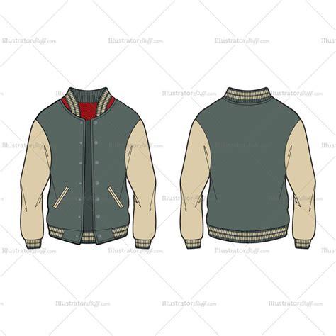 Men's Varsity Jacket / American Baseball Jacket Fashion ... Fashion Illustration Templates Men