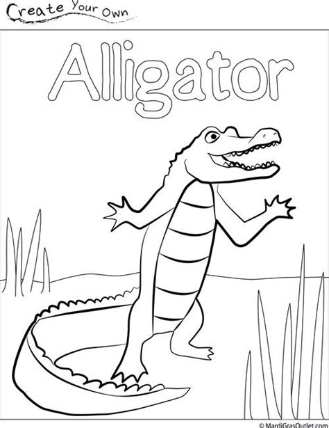 alligator coloring page pdf party ideas by mardi gras outlet alligator coloring page