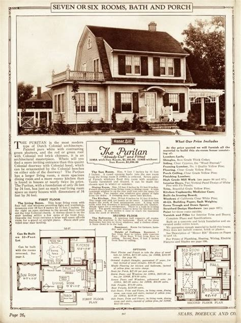 dutch colonial revival house plans kit homes house plans and vintage house plans on pinterest