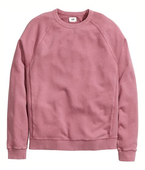 lyst hm sweatshirt  pink  men