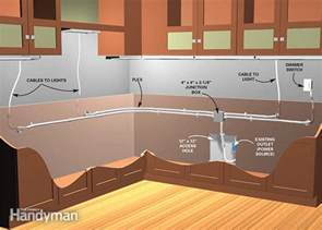 how to install lights under kitchen cabinets