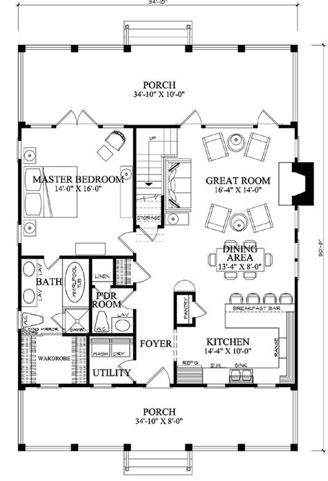 small country open floor plans