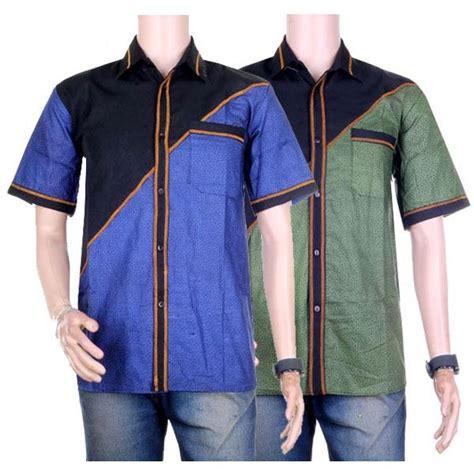 Hem Batik Atasan Baju Pria 4 baju atasan pria hem motif batik warna kombinasi size m l xl 7 warna elevenia