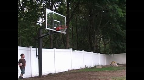 goalrilla deluxe basketball hoop light david dunking on a goalrilla basketball system youtube