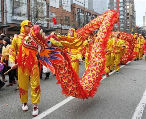 new year parade with festival parade is the highlight of lunar new year