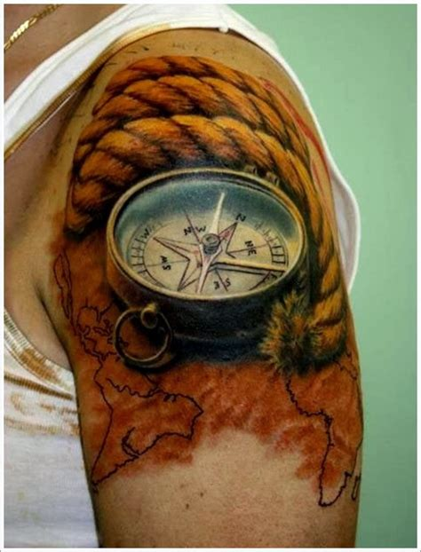 cool 3d tattoos gallery for cool compass designs