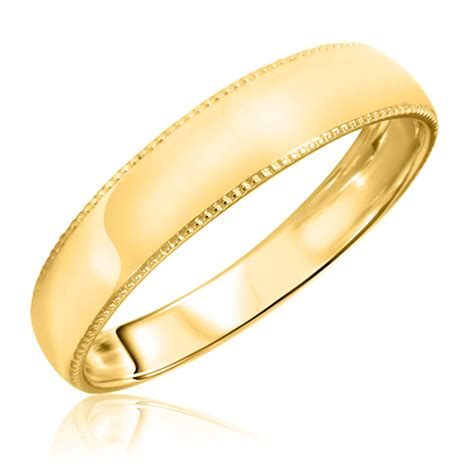 14k Gold Wedding Band by S Wedding Band 14k Yellow Gold My Trio Rings