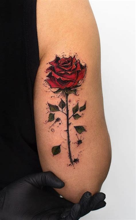 beautiful rose tattoo inkstylemag