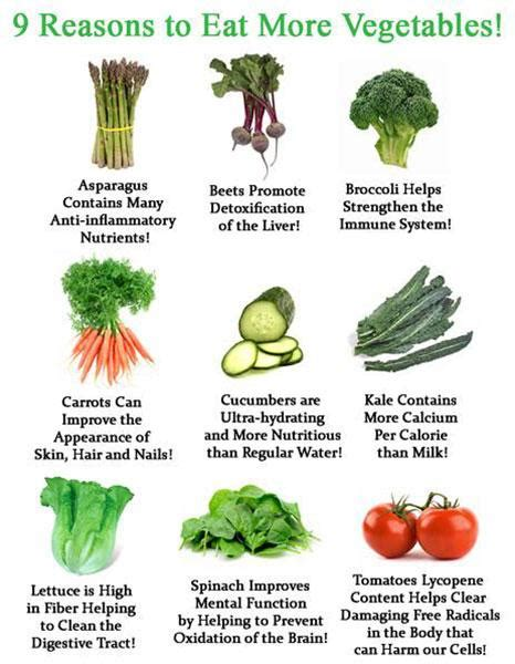 9 Reasons Your Diet May Fail by 9 Reasons To Eat More Vegetables Veg Health Tips