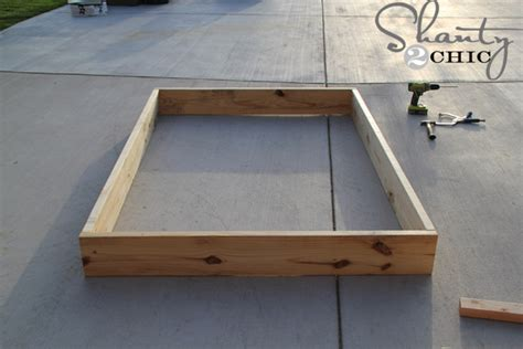 Easy Diy Platform Bed Shanty 2 Chic How To Raise A Bed Without A Frame