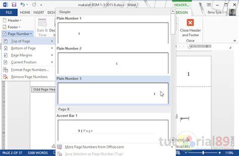 cara membuat no halaman berbeda di word 2013 cara membuat no halaman ganjil genap beda posisi di word