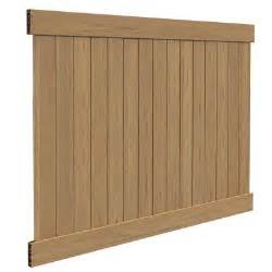 home depot fence panels veranda linden 6 ft h x 8 ft w cypress vinyl privacy