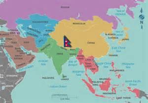 World Map Of Nepal by Where Is Nepal Viaje Nepal