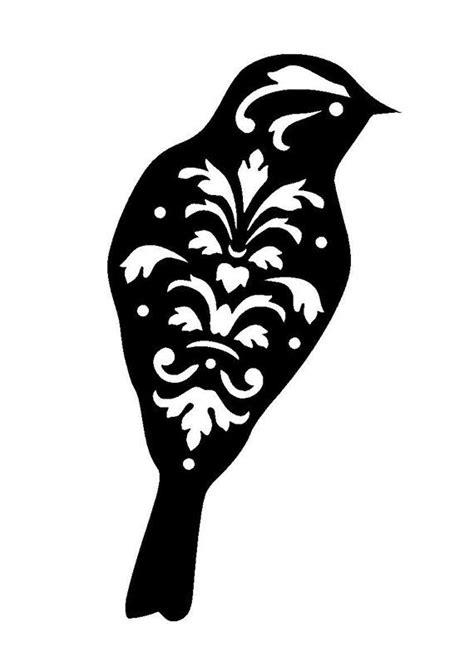 11 7 16 5 Quot Vintage Bird Design 3 Stencil And Template A3 Bird Design Templates