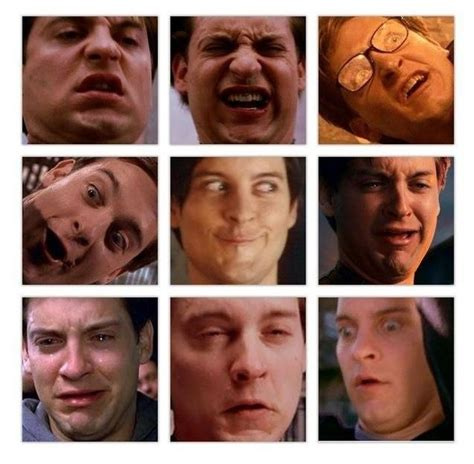 Tobey Maguire Face Meme - tobey maguire has the best facial expressions meme guy