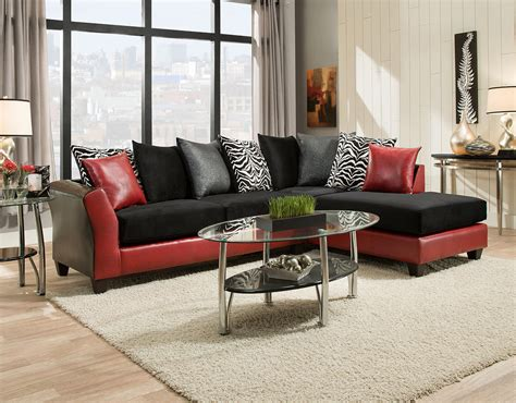 black and red sectional red and black sectional las vegas furniture store