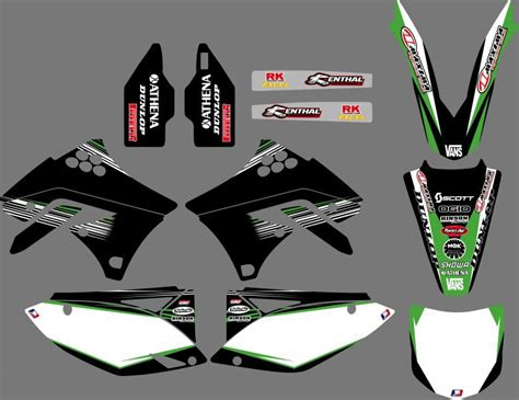 Kawasaki 250f Sticker Kits by Power 0059 New Style Team Graphics Backgrounds Decals