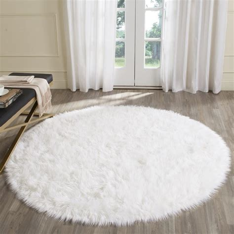 Safavieh Faux Sheepskin Rug Rug Fss235a Faux Sheep Skin Area Rugs By Safavieh