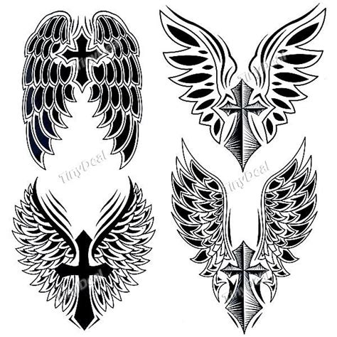 temporary cross wing stickers beckham the world s catalog of ideas