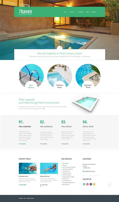 swimming pool builder joomla template 48436